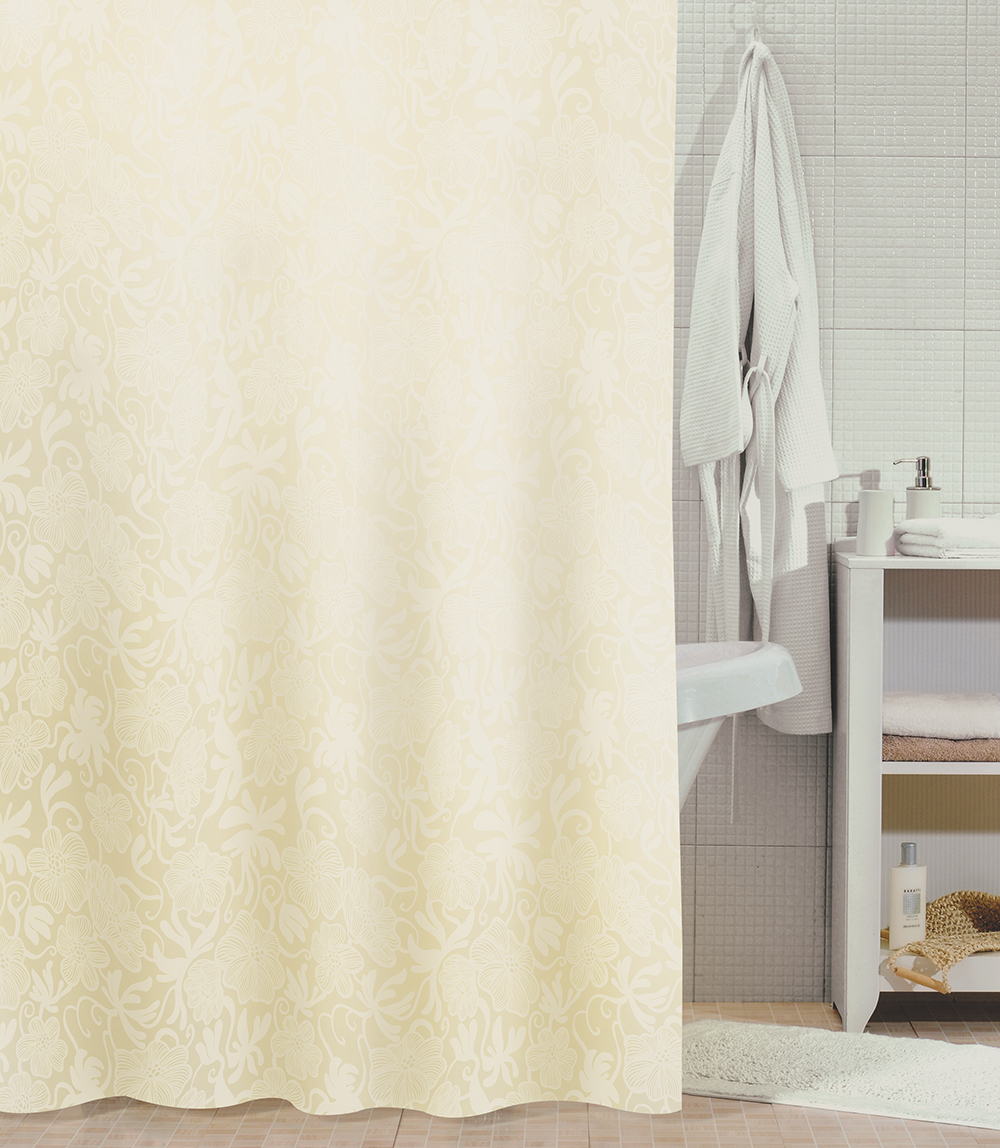 Штора для ванной комнаты Milardo 840p180m11 штора для ванной комнаты milardo 506v180m11
