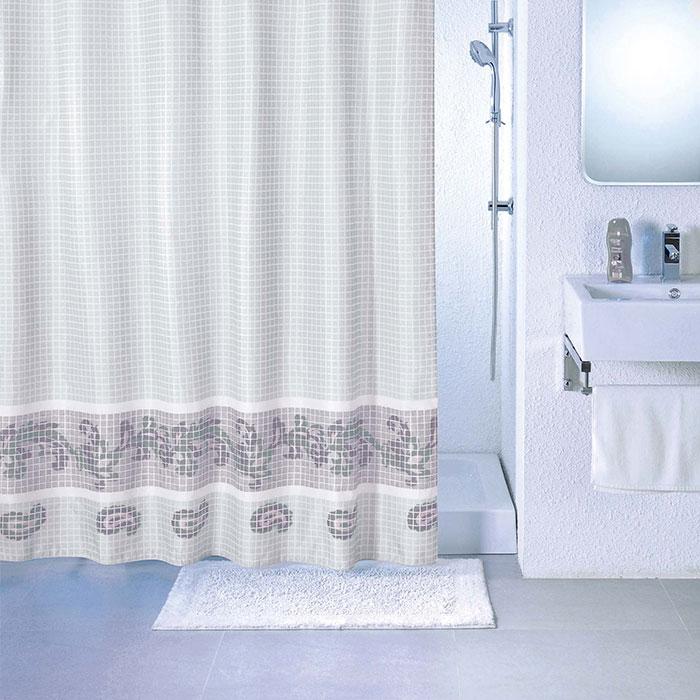 Штора для ванной комнаты Milardo Scmi012p штора для ванной комнаты milardo 535v180m11