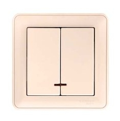 Выключатель Wessen 59 vs516-251-28 выключатель двухклавишный наружный бежевый 10а quteo