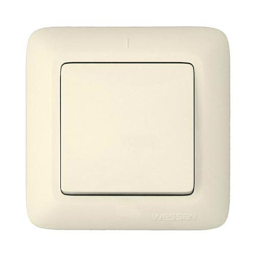 Выключатель Wessen A16-051-si выключатель двухклавишный наружный бежевый 10а quteo