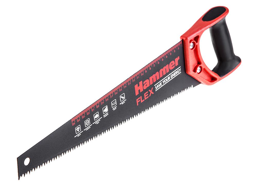 Ножовка Hammer по дереву  400мм ножовка по дереву fit 40469
