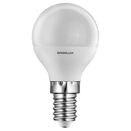 Лампа светодиодная Ergolux 12141 led-g45-5w-e27-4k эра f led p45 e27 5w 230v желтый свет