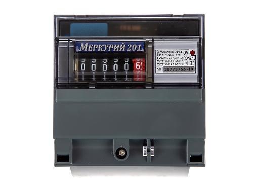 Счетчик электроэнергии ИНКОТЕКС МЕРКУРИЙ 201.5 (однофазный, однотарифный)