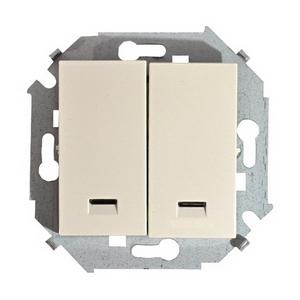 Выключатель Simon 15 1591392-031 выключатель двухклавишный наружный бежевый 10а quteo