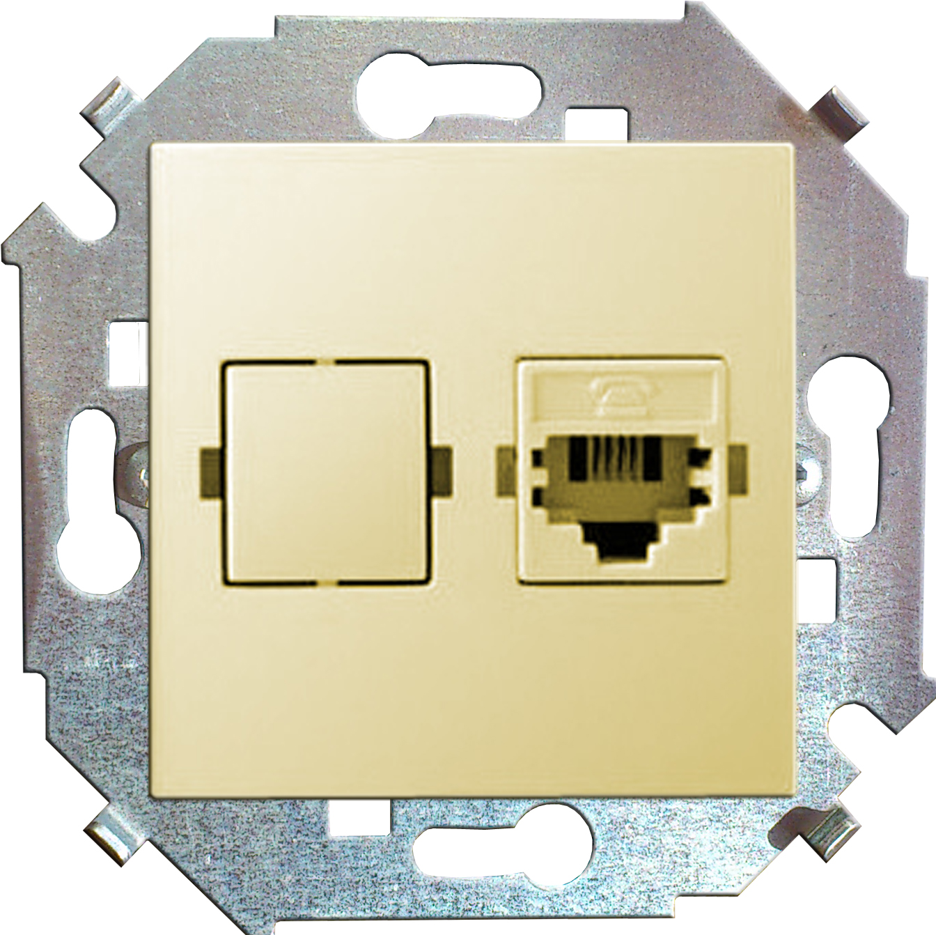 Розетка Simon 15 1591598-031 simon simon 15 белый розетка компьютерная 1 ая rj45 кат 5е 1591598 030