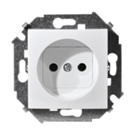 Розетка Simon 15 1591432-030 simon simon15 aqua белый переключатель 1 клавишный с п наружный ip54 1594204 030