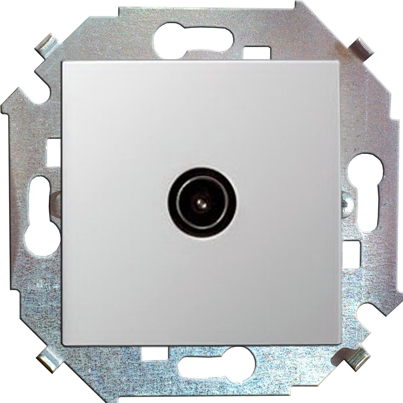 Розетка Simon 15 1591475-030 simon simon15 aqua белый переключатель 1 клавишный с п наружный ip54 1594204 030