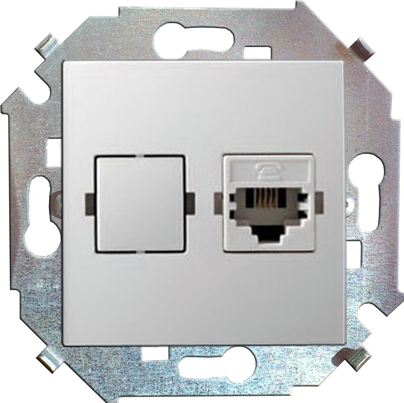 Розетка Simon 15 1591598-030 simon simon15 aqua белый переключатель 1 клавишный с п наружный ip54 1594204 030