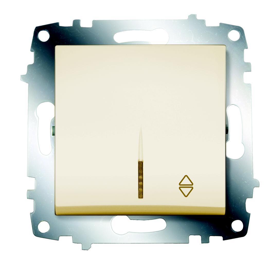 Переключатель Abb Cosmo 619-010300-210 gira gira мех выключатель 1 клавишный 3 х полюсный 010300