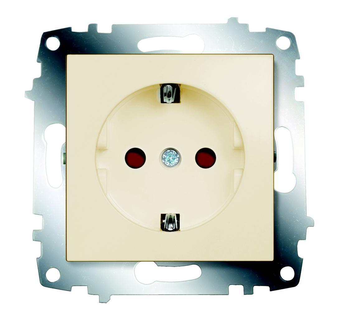Розетка Abb Cosmo 619-010300-243 abb розетка с заземлением abb olas никель