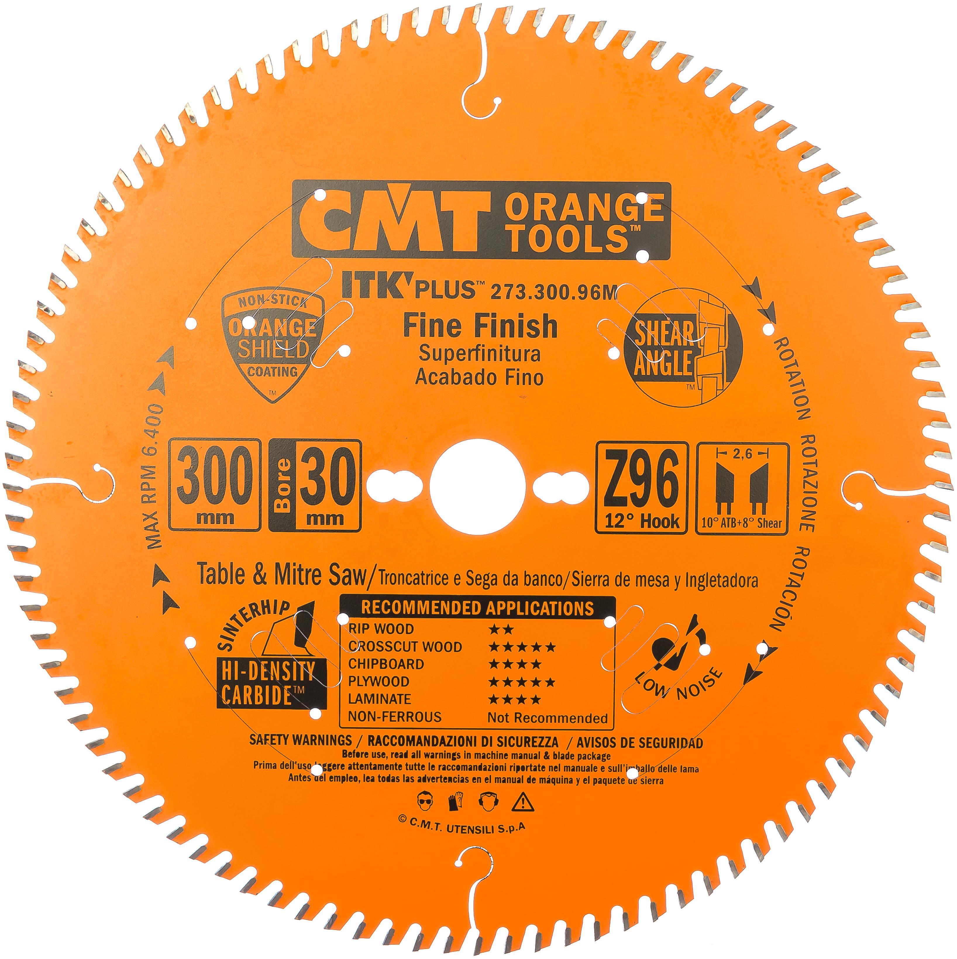 Диск пильный твердосплавный Cmt Ф300х30мм 96зуб. (273.300.96m)