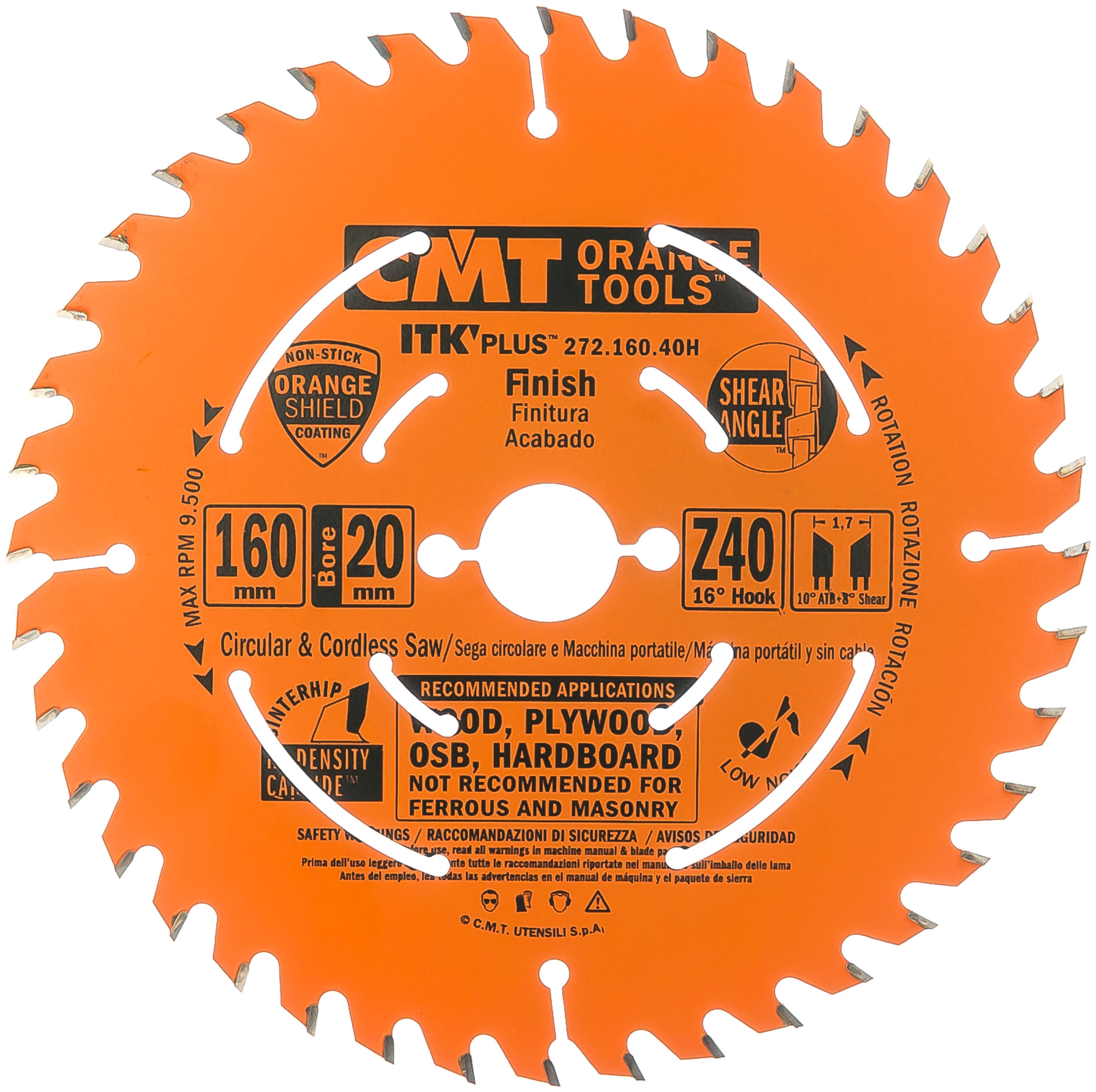 Фото - Диск пильный твердосплавный Cmt Ф160х20мм 40зуб. (272.160.40h) диск пильный твердосплавный fit ф250х32мм 40зуб 37758