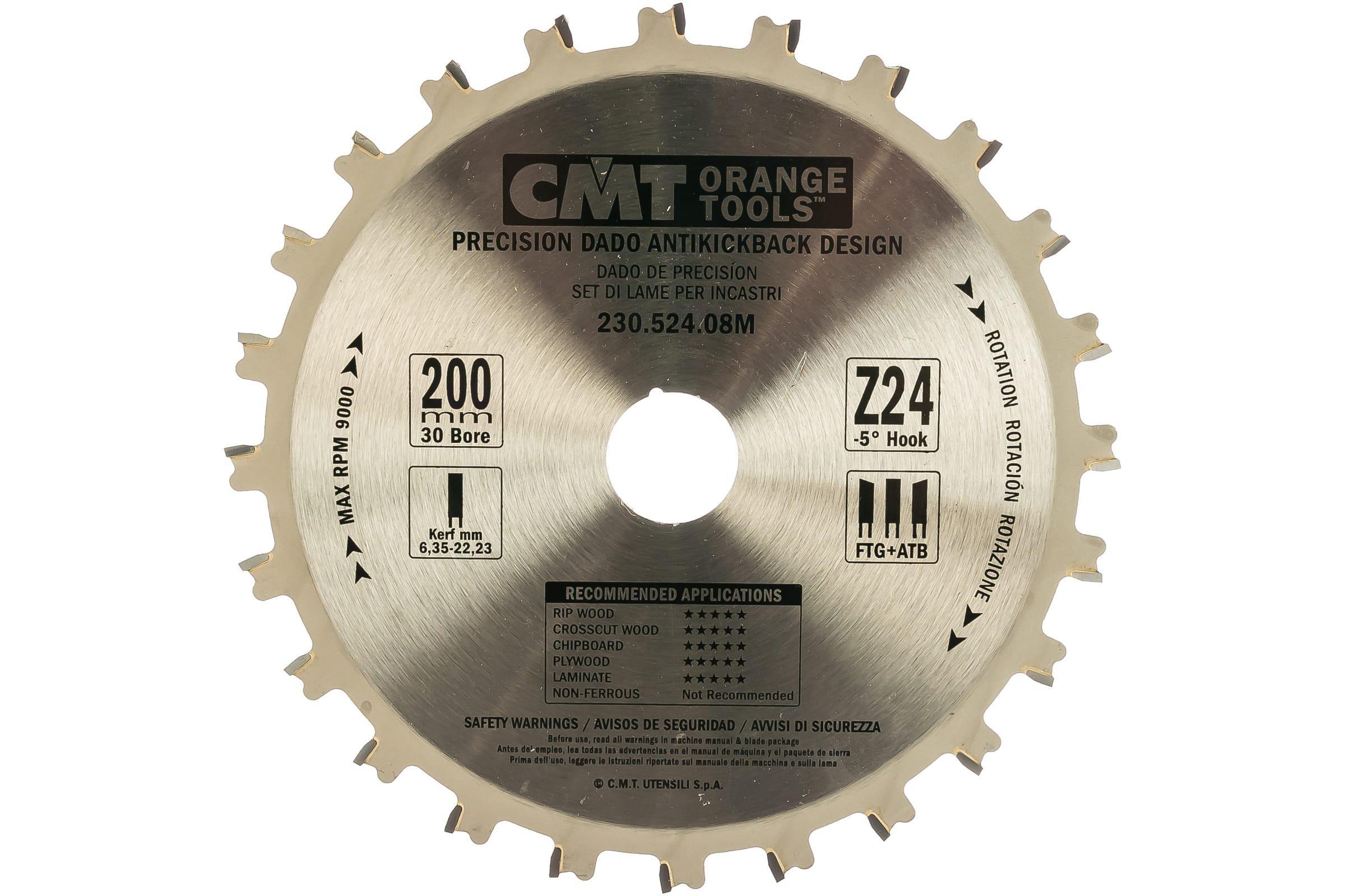 Диск пильный твердосплавный Cmt Ф200х30мм 24зуб. (230.524.08m)