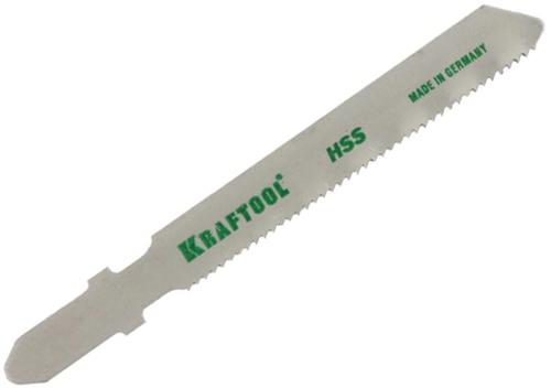Пилки для лобзика Kraftool 159551-1,2 пилки для лобзика по ламинату для прямых пропилов практика t101br 3 30 мм обратный зуб 2 шт