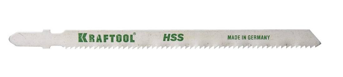 Пилки для лобзика Kraftool 159552-2 пилки для лобзика по ламинату для прямых пропилов практика t101br 3 30 мм обратный зуб 2 шт
