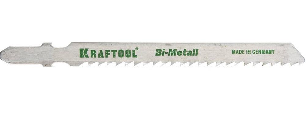 Пилки для лобзика Kraftool 159556-3 пилки для лобзика по металлу для прямых пропилов t318bf 2 шт 2 5 6 мм стандарт