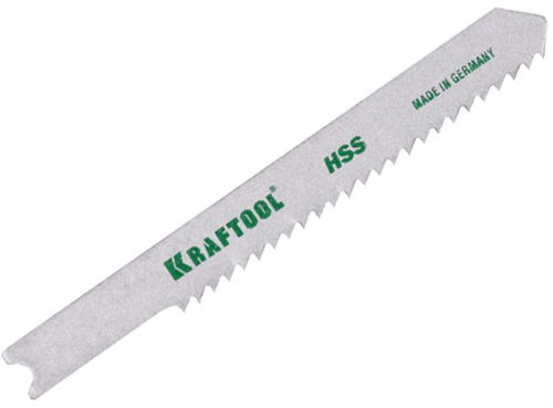 Пилки для лобзика Kraftool 159651-1,2 пилки для лобзика по ламинату для прямых пропилов практика t101br 3 30 мм обратный зуб 2 шт