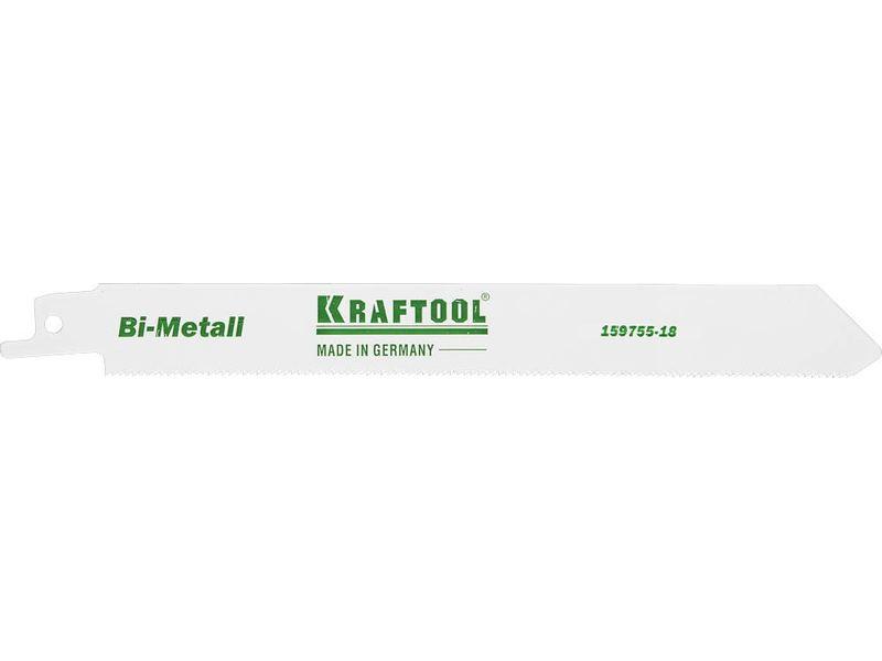 Полотно пильное Kraftool 159755-18 комбинированные плоскогубцы 180 мм kraftool kraft max 22011 1 18