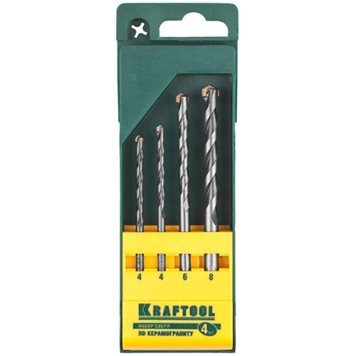 Набор сверл Kraftool 29170-h4 набор губцевых инструментов kraft max 4 штуки kraftool 22011 h4