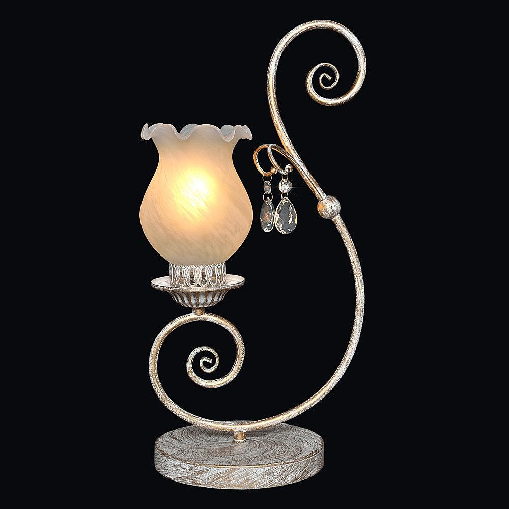 Лампа настольная МАКСИСВЕТ 5-4210-1-whs e14 1gc14210 1gc1 4210 ssop16