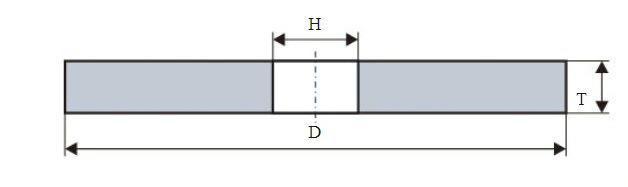 Круг шлифовальный ЛУГА-АБРАЗИВ 1  300 Х  8 Х 127 25А 60 m,n (25С)