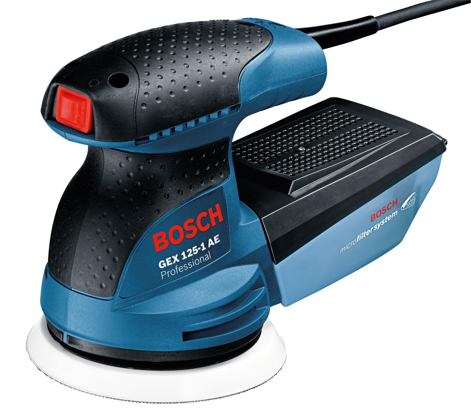 Орбитальная (эксцентриковая) шлифмашина Bosch Gex 125-1 ae в кейсе (0.601.387.501)