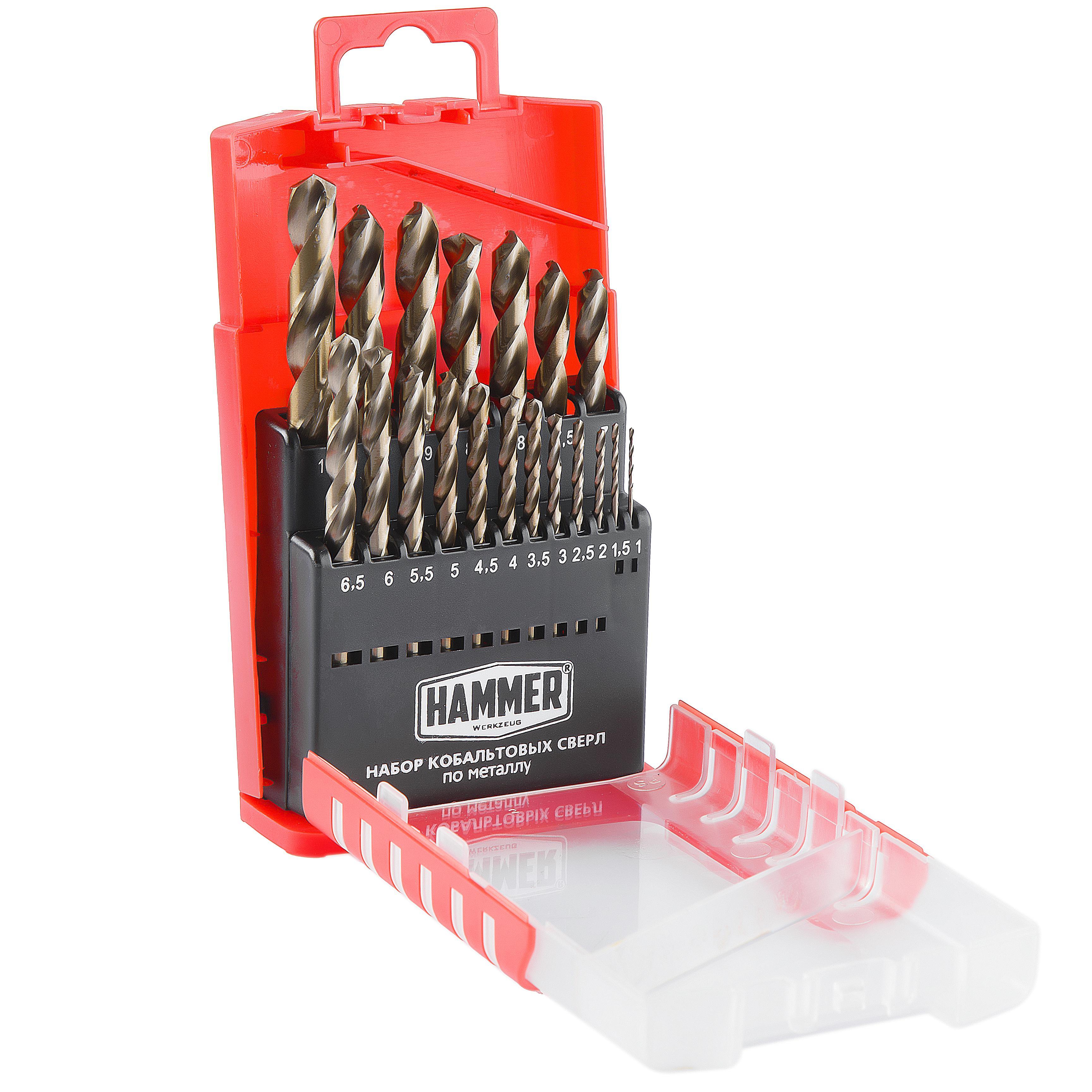 Набор сверл Hammer No7 (19шт.) 1,0-10мм набор инструментов 19шт gigant gt 19