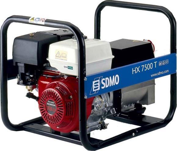 Бензиновый генератор Sdmo Hx 7500 ts sdmo vx 220 7 5h s