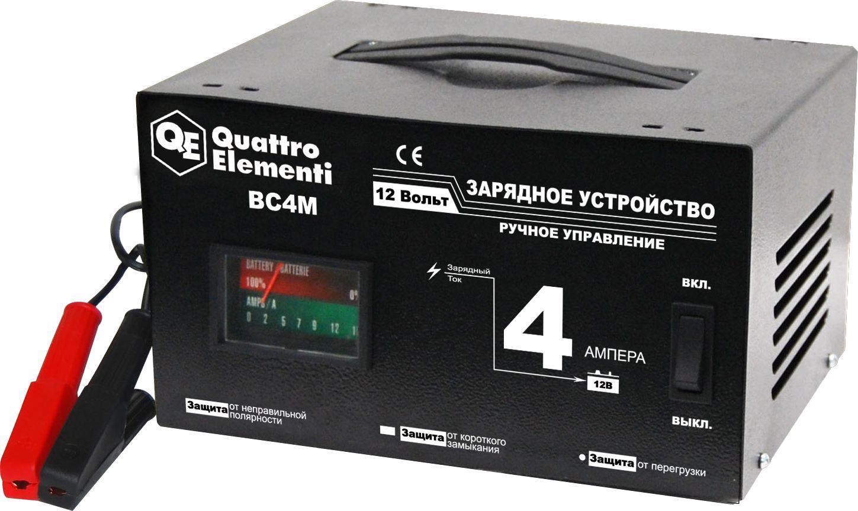 Устройство зарядное Quattro elementi 770-063bc4m зарядное устройство для автомобильных аккумуляторов quattro elementi energia 5000 li 641 107
