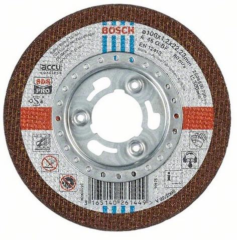 Круг отрезной Bosch Sds-pro 100x1,2 по металлу (2.608.600.700) круг отрезной по металлу 125х22х1мм bosch профи