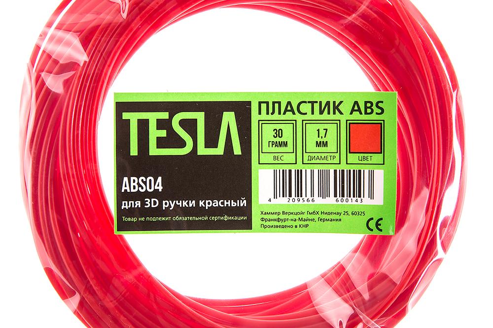 Abs-пластик для 3d ручки Tesla Abs04 красный от 220 Вольт