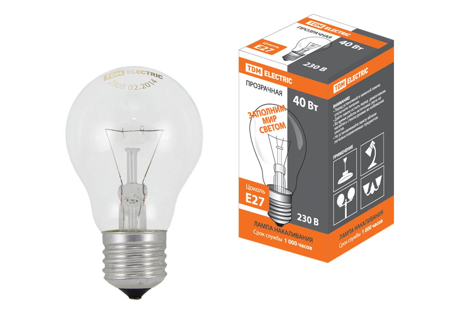 Лампа накаливания Tdm Sq0332-0035 лампа накаливания рефлекторная е27 100w груша инфракрасная 82966