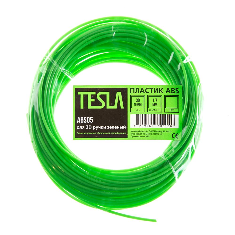 Abs-пластик для 3d ручки Tesla Abs05 зеленый