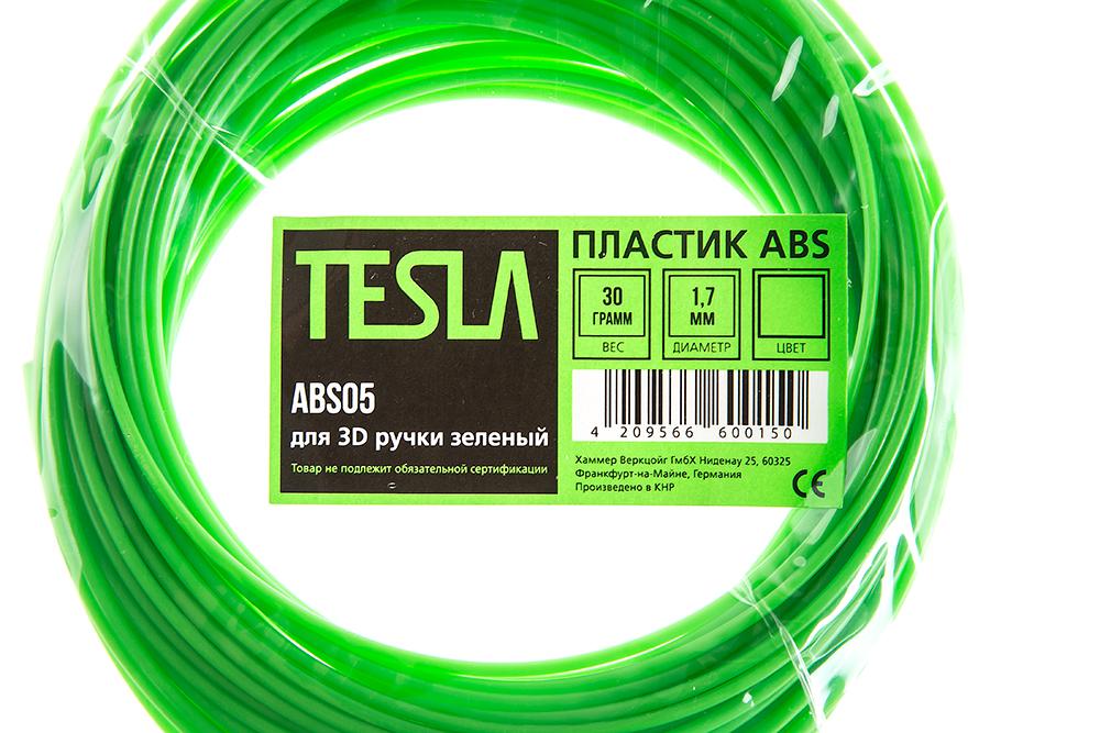 Abs-пластик для 3d ручки Tesla Abs05 зеленый от 220 Вольт