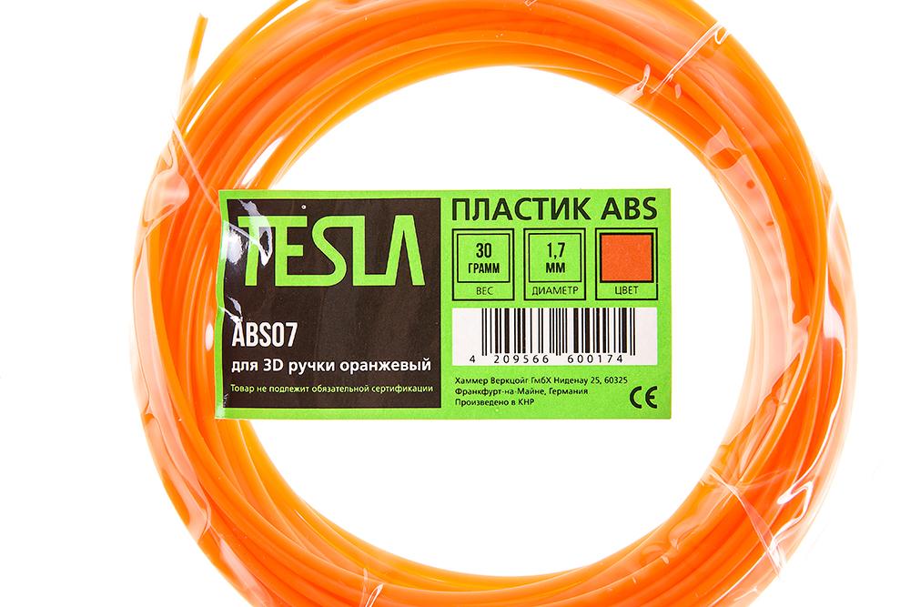 Abs-пластик для 3d ручки Tesla Abs07 оранжевый от 220 Вольт