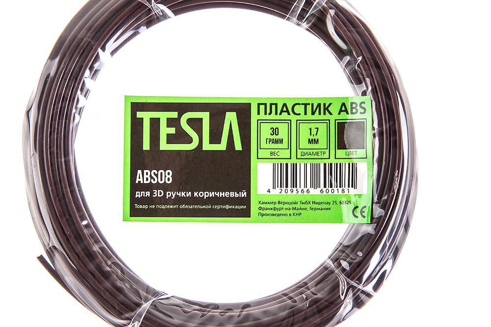 Abs-пластик для 3d ручки Tesla Abs08 коричневый от 220 Вольт