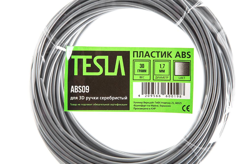 Abs-пластик для 3d ручки Tesla Abs09 серебристый от 220 Вольт
