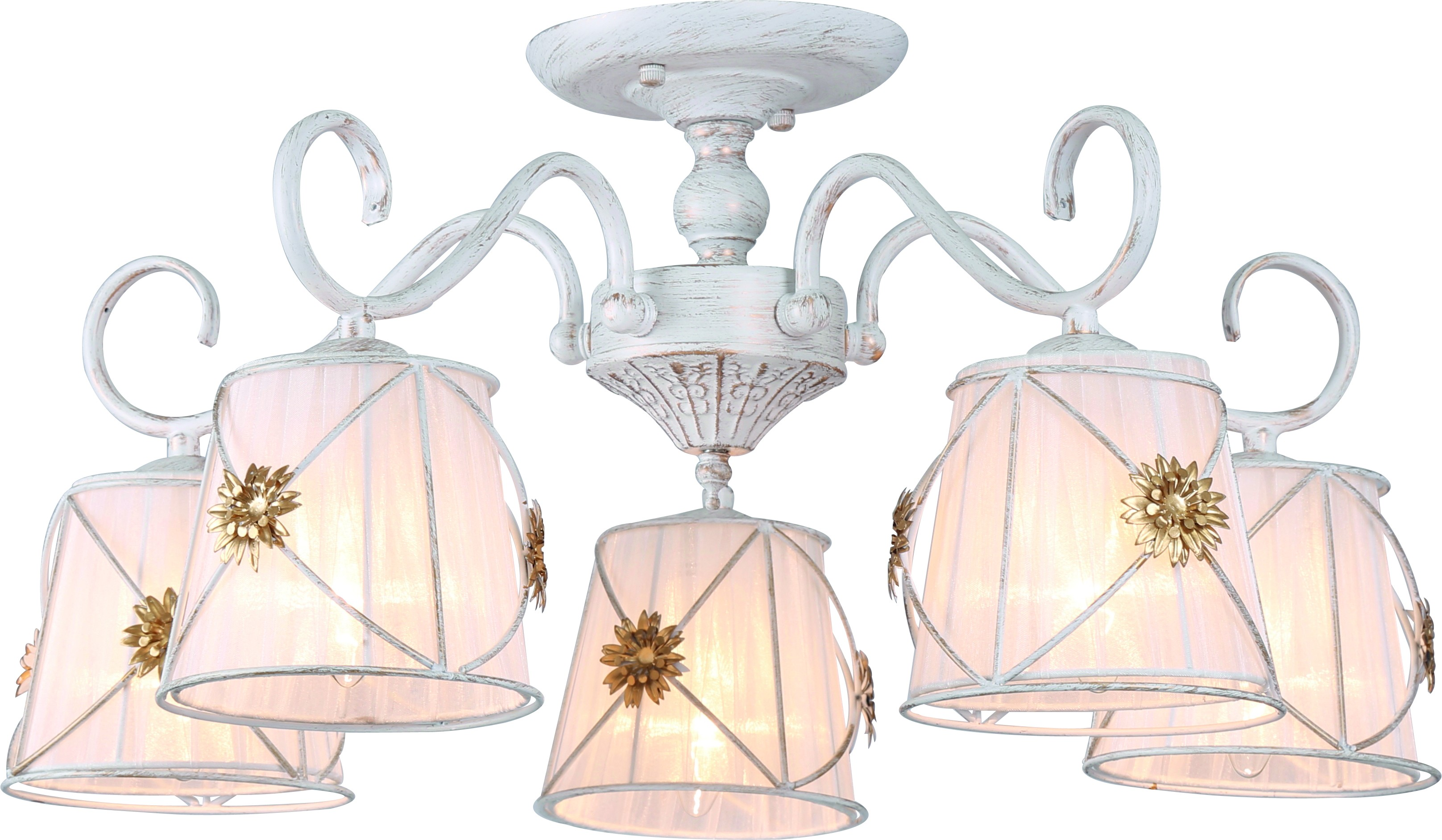 Люстра Arte lamp A5495pl-5wg люстра на штанге arte lamp fortuna a5495pl 5br
