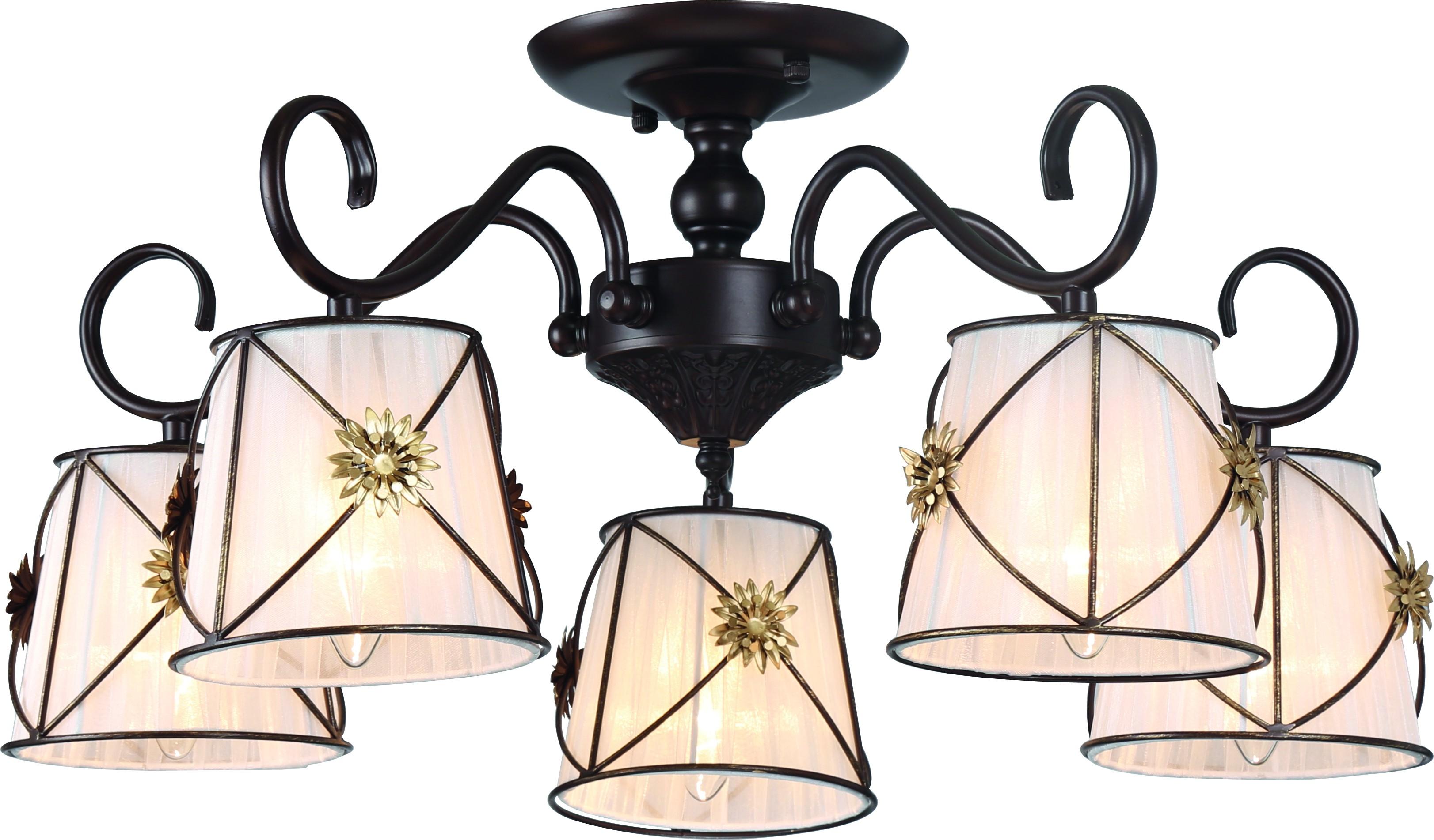 Люстра Arte lamp A5495pl-5br потолочная люстра arte lamp 72 a5495pl 5br