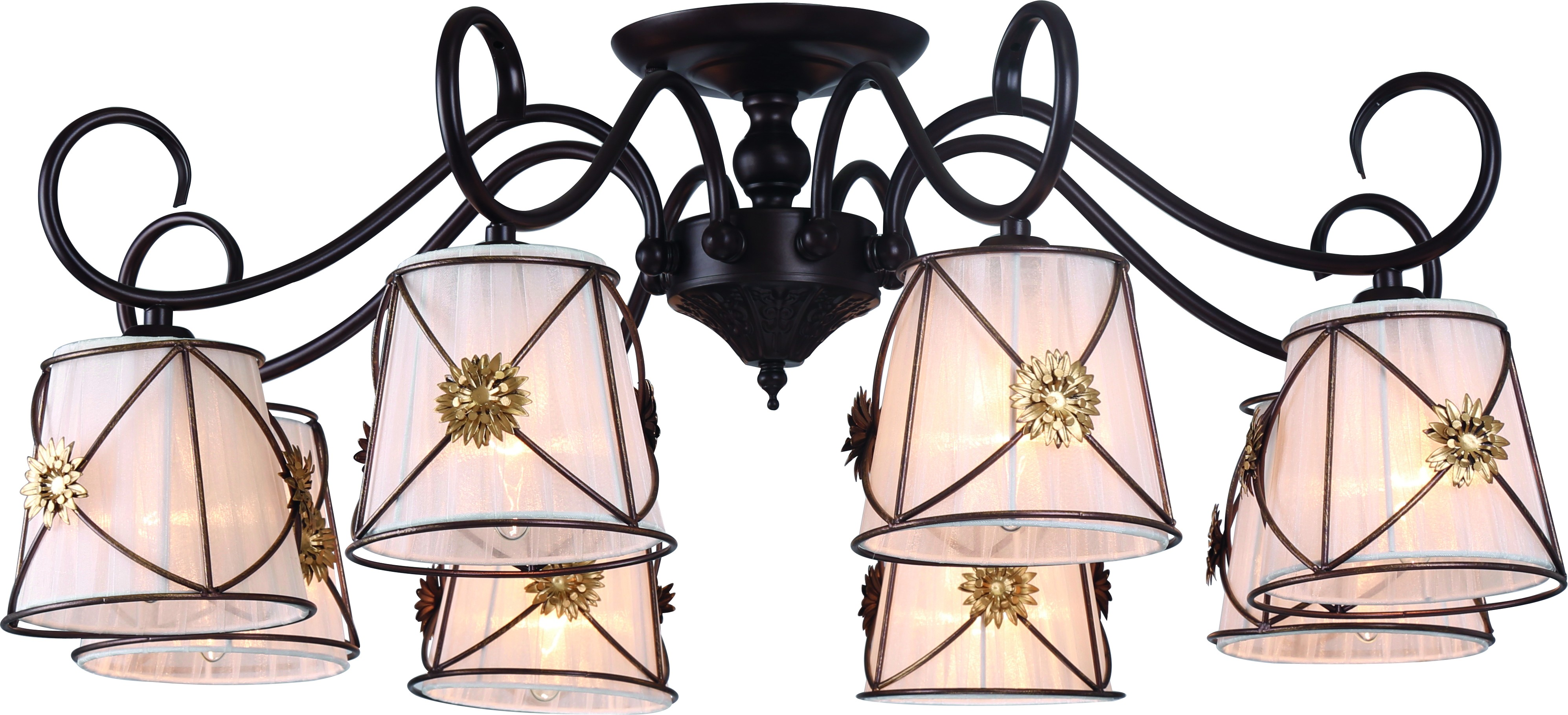 Люстра Arte lamp A5495pl-8br потолочная люстра arte lamp 72 a5495pl 5br