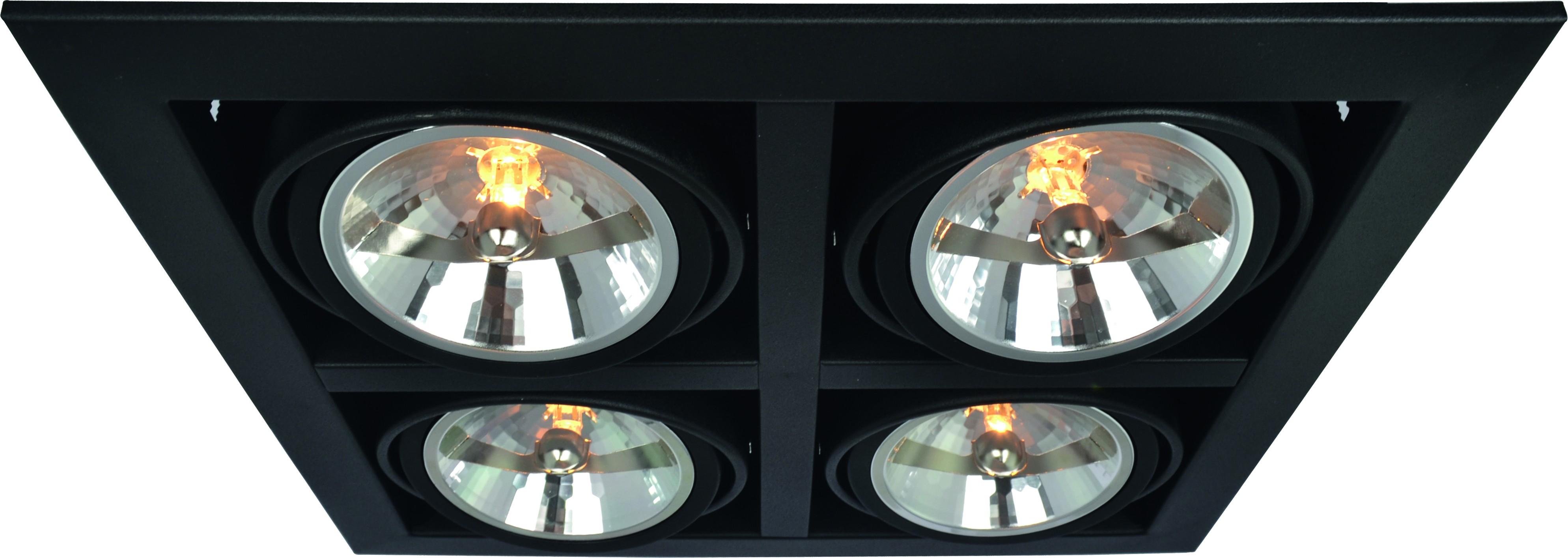 Светильник встраиваемый Arte lamp A5935pl-4bk встраиваемый спот точечный светильник arte lamp cardani a5935pl 4bk
