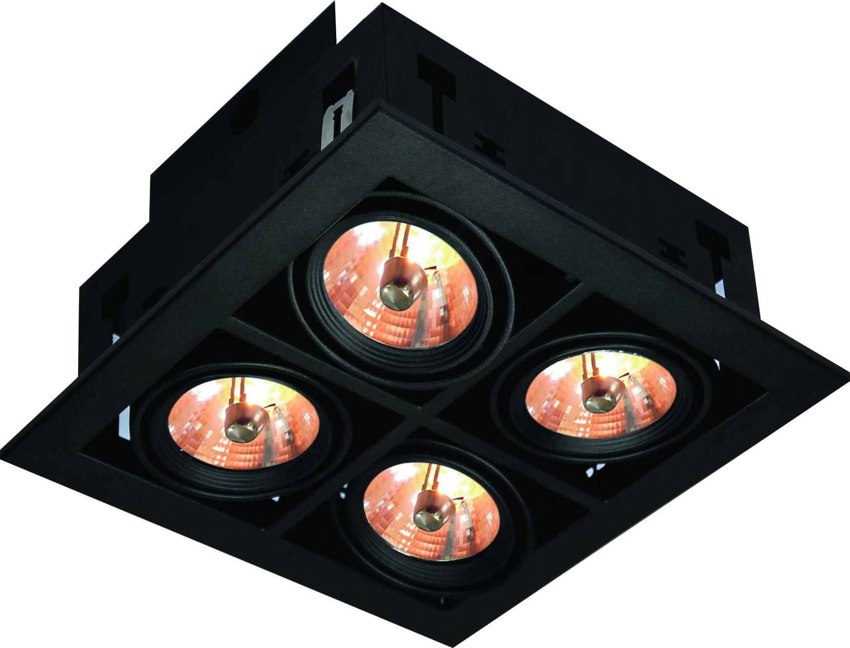Светильник встраиваемый Arte lamp A5930pl-4bk встраиваемый светильник arte lamp cardani a5930pl 4bk