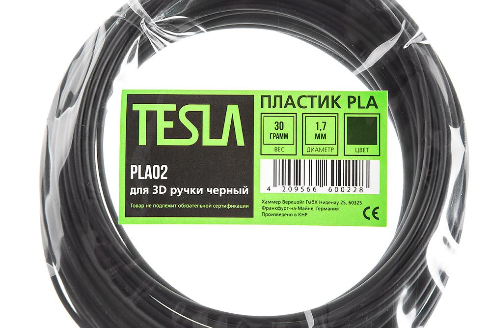 Pla-пластик для 3d ручки Tesla Pla02 чёрный от 220 Вольт