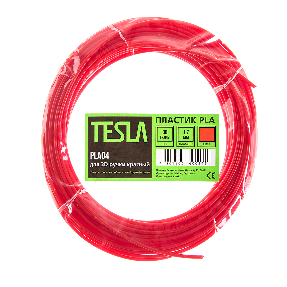 Pla-пластик для 3d ручки Tesla Pla04 красный