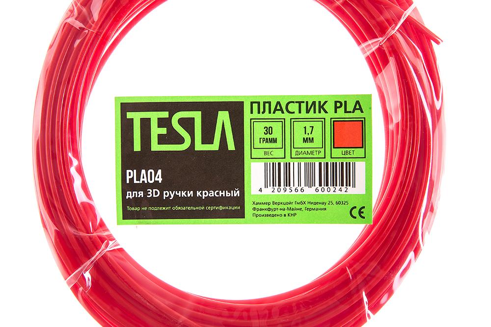 Pla-пластик для 3d ручки Tesla Pla04 красный от 220 Вольт