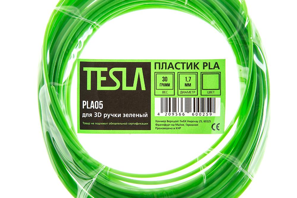 Pla-пластик для 3d ручки Tesla Pla05 зеленый от 220 Вольт