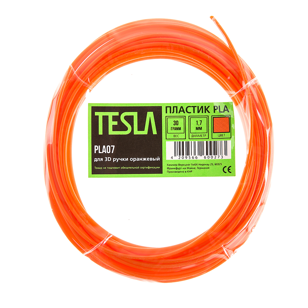 Pla-пластик для 3d ручки Tesla Pla07 оранжевый