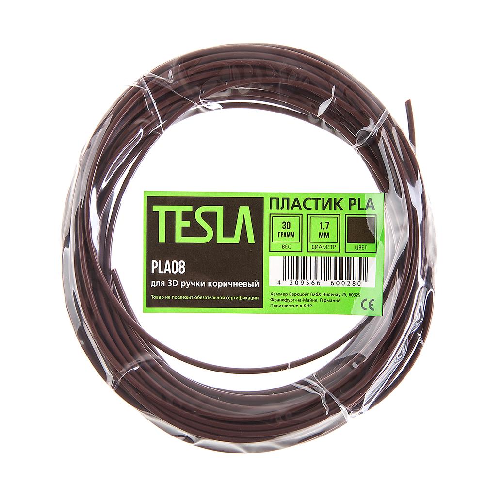 Pla-пластик для 3d ручки Tesla Pla08 коричневый