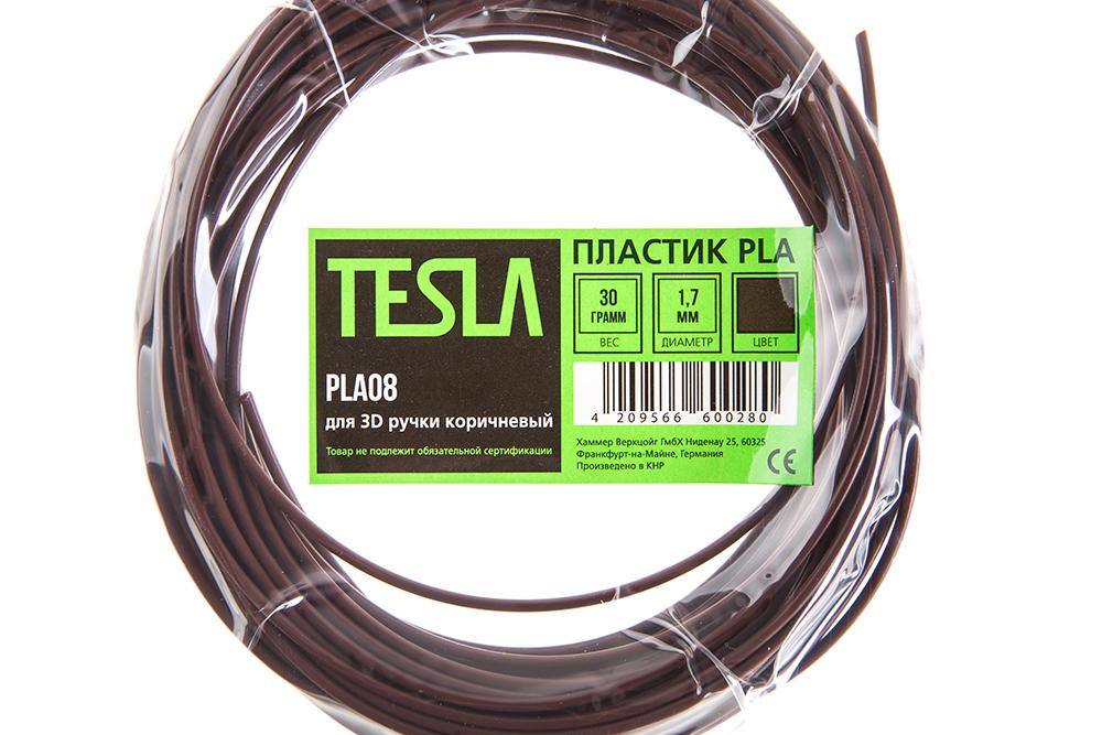 Pla-пластик для 3d ручки Tesla Pla08 коричневый от 220 Вольт