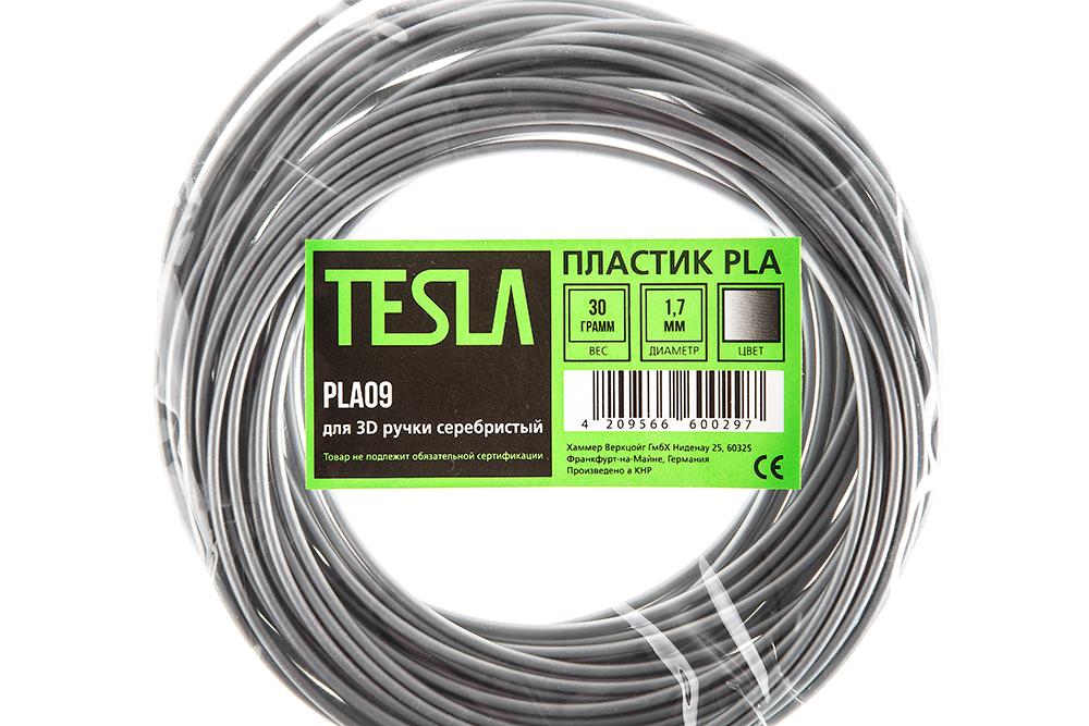 Pla-пластик для 3d ручки Tesla Pla09 серебристый от 220 Вольт